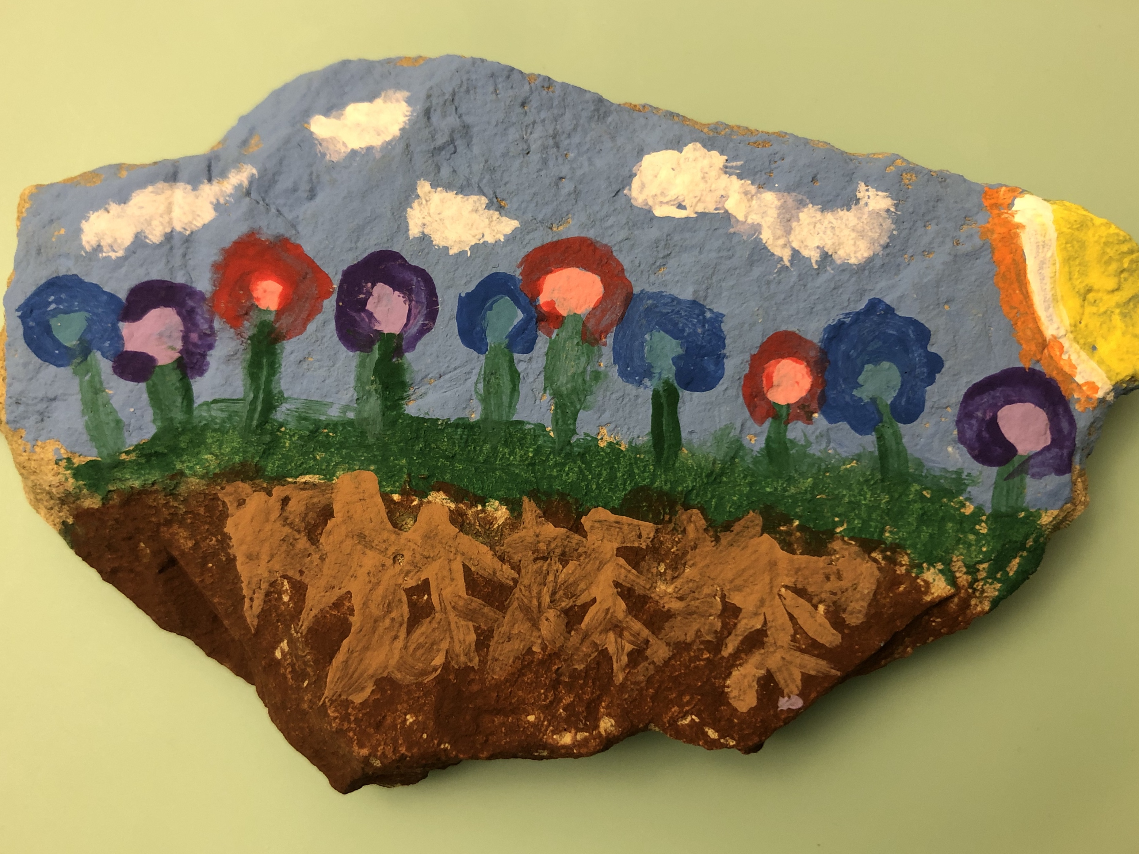 Painted Rock by Emma R. - Age 7