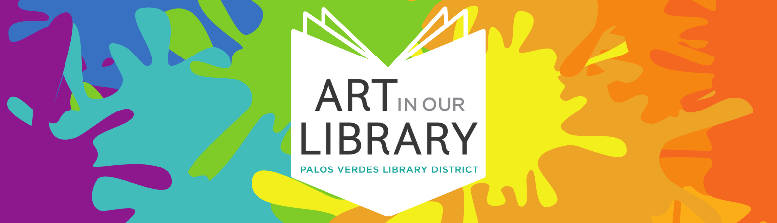 Art in Our Library Logo with splattered paint