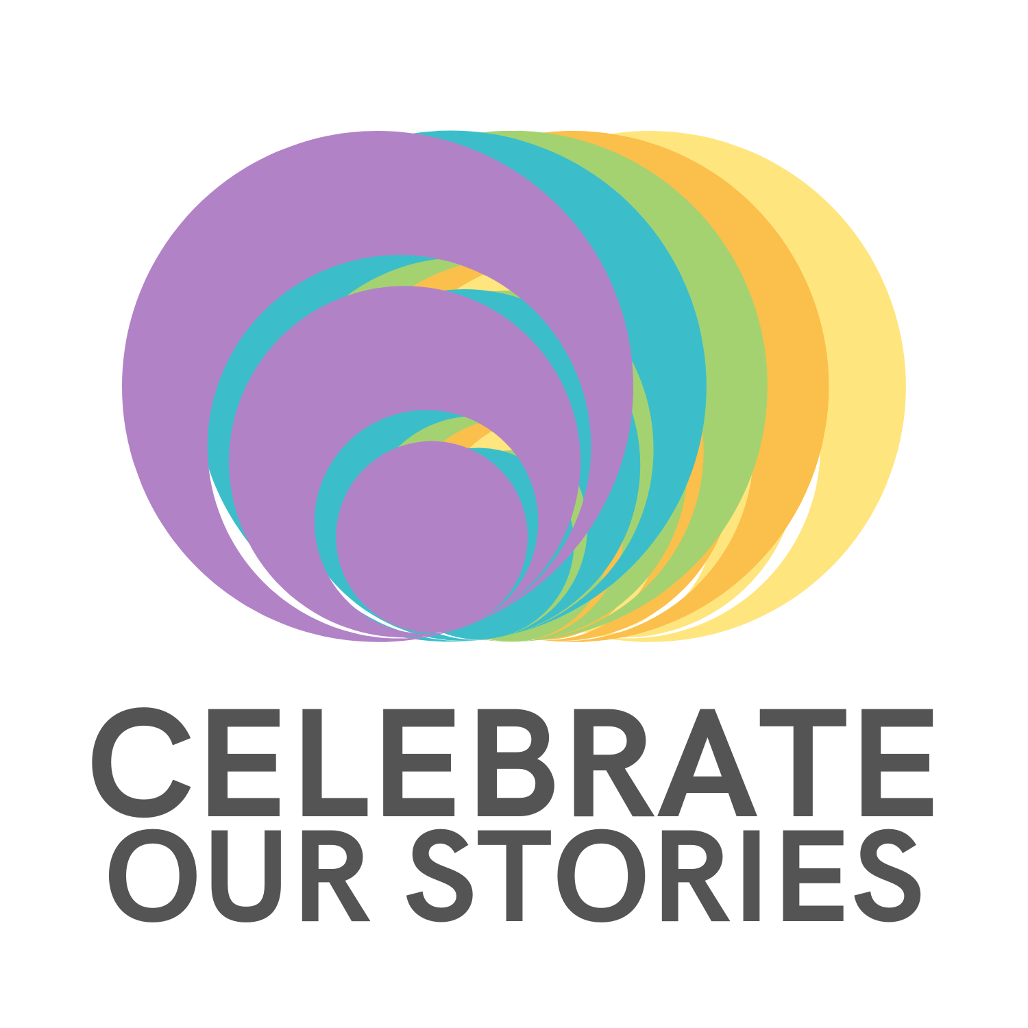 Celebrate logo, multi color, Celebrate Our Stories