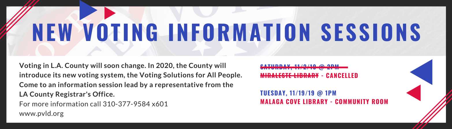 Voting Information Session